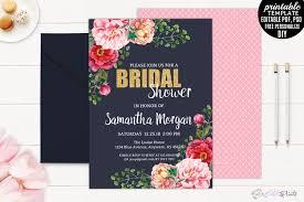 watercolor roses wedding invitation set design bundles