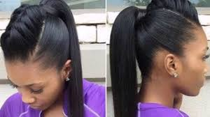 weave ponytail ponytail hairstyles on relaxed hair with weave