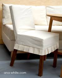 cloth chair covers drop cloth parson chair slipcovers from white tutorial to