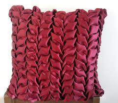 Accent Sofa Pillows by 18 X18 Decorative Satin Throw Pillows Cover In Maroon Canadian