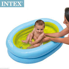 Baby Blow Up Bathtub Buy Intex Baby Inflatable Bath Tub 48421 Travel Bathing Online