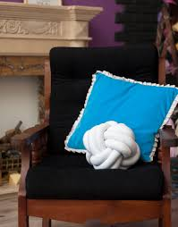 white swirl knot pillow throw cushion decorative pillow