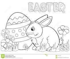 easter bunny eggs coloring 2