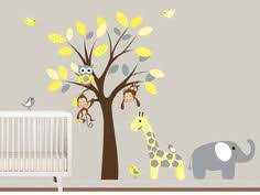 Boy Nursery Wall Decal Baby Nursery Decor Elephant Baby Boy Nursery Wall Decals
