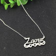chain with name aliexpress buy fashion angel wings you silver
