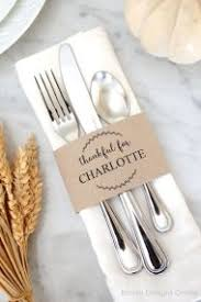 Table Setting Cards - thanksgiving table decor raleigh wedding planner