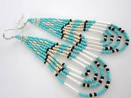 video native american southwestern style beaded earrings seed