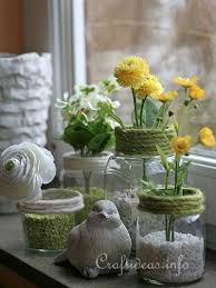 Table Vase Decorations Decorating Idea For Spring Recycling Craft Jar Flower Vases