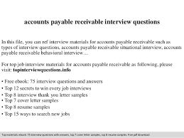 Accounts Payable And Receivable Resume Accounts Payable Receivable Interview Questions
