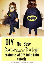 diy no sew batman batgirl costume diy tulle tutu diy
