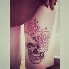 skull and roses tattoo inked magazine ink u003c3 pinterest