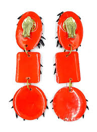 huge long googly eyed spider halloween earrings