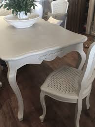 outstanding french style dining table and chairs hand painted