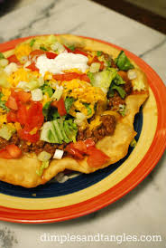 indian tacos also known as indian fry bread fair food but easily