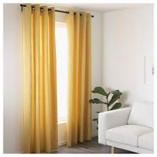 Ikea Curtain Length Mariam Curtains 1 Pair Yellow 145x250 Cm Ikea