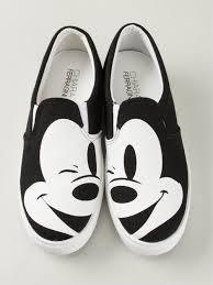 chiara ferragni mickey mouse print slip sneakers black lyst