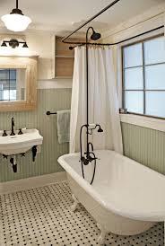 Simple Bathroom Decor Ideas Simple Bathroom With Blue Framed Wall Mirror And Vintage Old