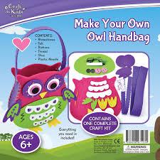 make your own owl handbag by craft for kids u2013 daves deals