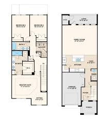 birch floor plan at thornbrooke at towne center townhomes in
