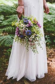 boho shabby chic wedding bouquet arranged with some of the