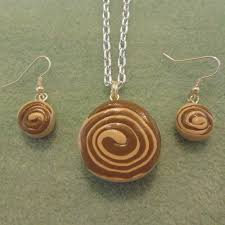 cinnamon bun earrings artfire markets