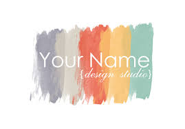 interior design logo premade logo design paint swatch logo painter logo blog