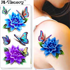 fashion stickers 3d effect water transfer temporary