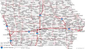 map of iowa towns map of iowa cities iowa road map