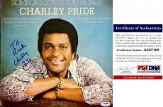 Personalized Record Album Autographed Charley Pride Memorabilia Signed Photos U0026 Other Items