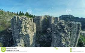 fly over pre romanesque church ruins stock video video 50649977