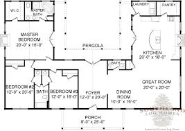 2 Story Log Cabin Floor Plans The Bourbon