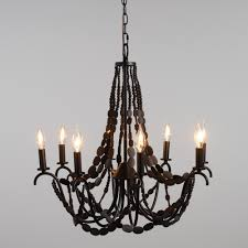 large wood bead chandelier world market