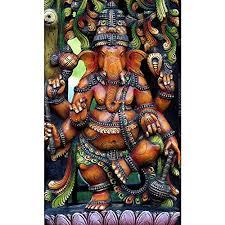 Home Interiors And Gifts Framed Art Pitaara Box Hindu God Ganesh Medium Size 12 0 Inch X 19 7 Inch