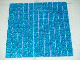 Glass Mosaic Border Tiles Glitter Blue Glass Mosaic Tiles Model Number V03