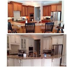 how to refinish cherry wood cabinets before and after photo of bark cherry stained cabinets