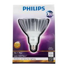 Led Outdoor Spot Lighting by Philips 422196 17 Watt 90 Watt Par38 Led Outdoor Flood Light