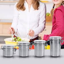 Stainless Steel Canisters Kitchen Compare Prices On Steel Canisters Online Shopping Buy Low Price