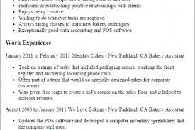 Sample Resume For Baker by Sample Resume Bakery Chef Resumes Sample Resume Resume Template