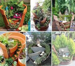 Garden Ideas Pictures Mini Garden Ideas For Your Broken Pots