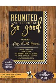 50th high school class reunion invitation high school reunion invitation reunited and it feels so