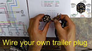 how to wire a trailer plug 7 pin diagrams shown youtube