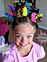 halloween color hair spray crazy hair day ideas wacky hair styles
