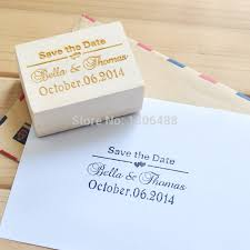 Cheap Save The Date Aliexpress Com Buy Personalized Wedding Stamp Wood Stamp
