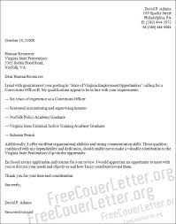 correctional counselor cover letter