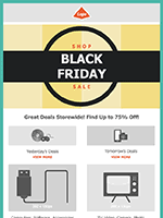 black friday email template e commerce and retail email templates benchmark email