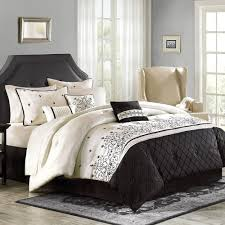 Embroidered Bedding Sets with Black And White Embroidered Bedding 15881