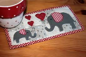 Quilted Mug Rug Pattern Free Quilt Block Patterns For Valentines Day Hearts