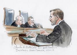 supreme court sketch artist draws clarence thomas deep in thought