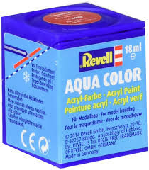 revell aqua color acrylic paint no 330 fiery red silk matt