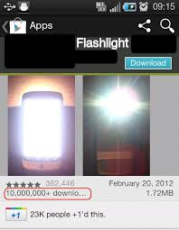flashlight app android does your flashlight app where you are probing android